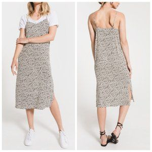 RAG POETS Leopard Print Slip Dress